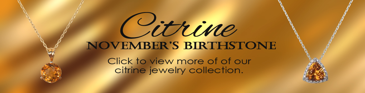 Shop our wide selection of citrine jewelry at Kloiber Jewelers!