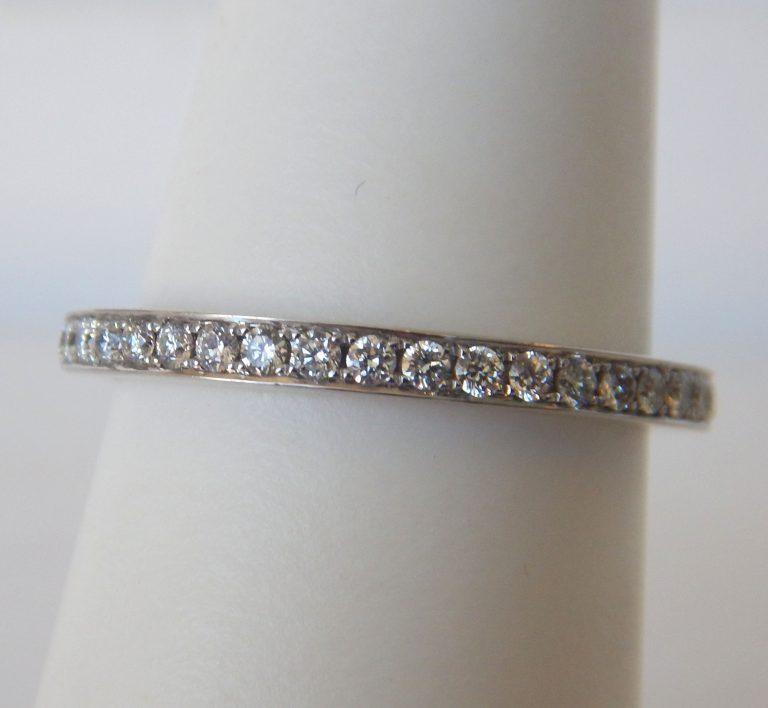 white gold channel set diamond band