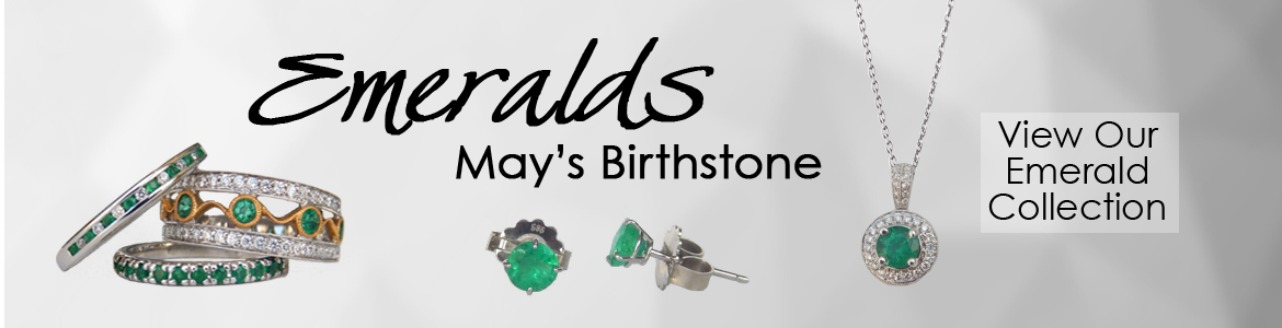 Kloiber Jewelers offers a variety of emerald jewelry.