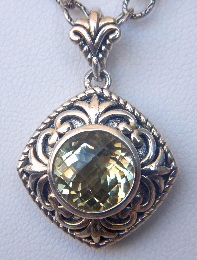 Lemon quartz pendant kloiber jewelers lemon quartz pendant mozeypictures Images