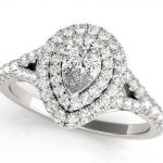 pearl shape diamond engagement ring