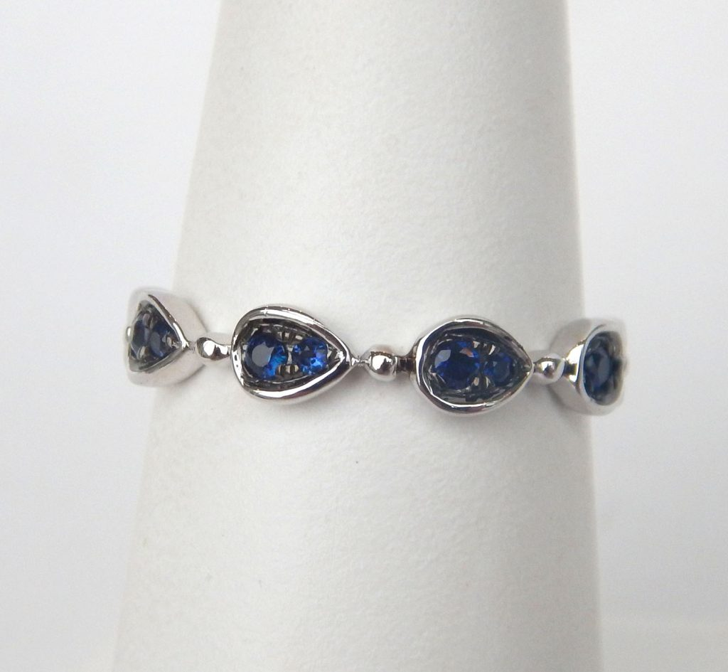 blue middleton products sapphire gray pear ring chiyo the davie vancouver vintage engagement shaped