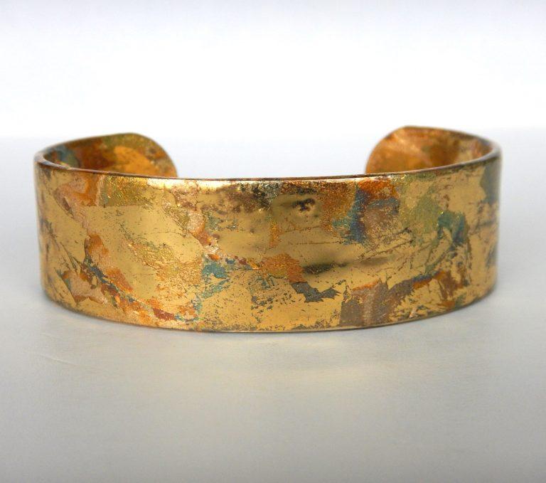 yellow gold cuff bracelet