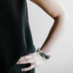 sterling silver brooklyn cuff on model