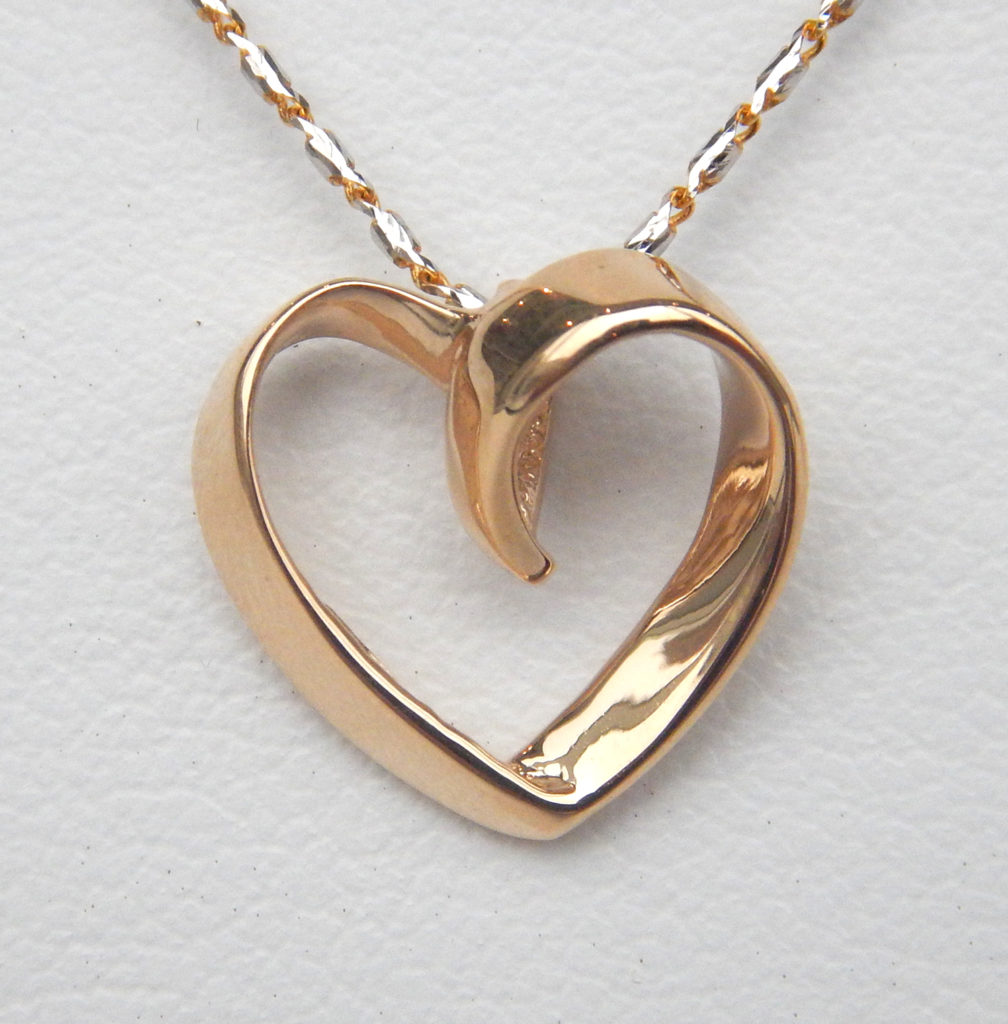 Gold heart pendant kloiber jewelers yellow gold heart pendant aloadofball Gallery