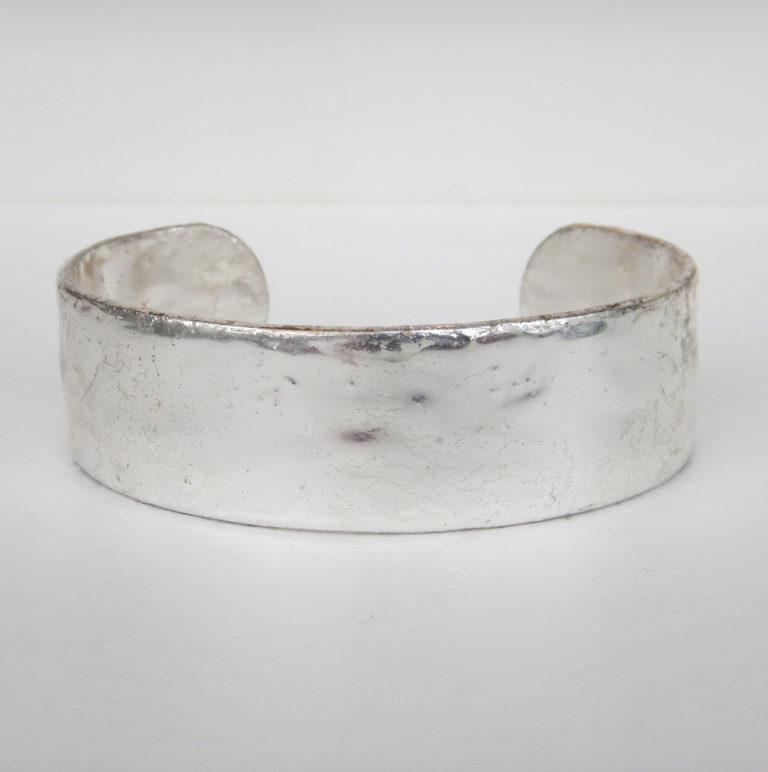 plain silver cuff bracelet