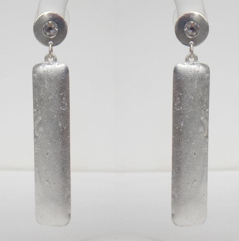 column earrings