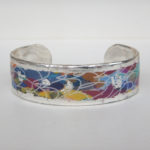 colorful silver cuff bracelet