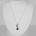 white gold contemporary amethyst necklace