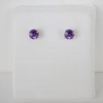 5mm amethyst stud earrings