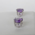 side view of amethyst studs