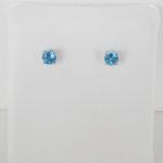 4mm blue topaz stud earrings