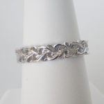 sterling silver ring made up of intertwined hearts