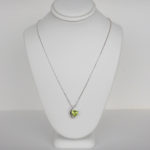 white gold contemporary peridot necklace