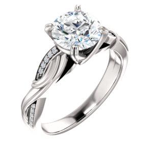 infinity style diamond engagement ring