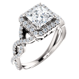 infinity style diamond engagement ring