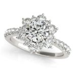 floral inspired diamond engagement ring