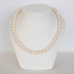 18 inch freshwater pearl necklace with yellow gold clasp