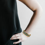 yellow gold torino cuff on model
