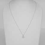 akoya pearl and diamond necklace in white gold