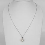 white gold akoya pearl and diamond necklace