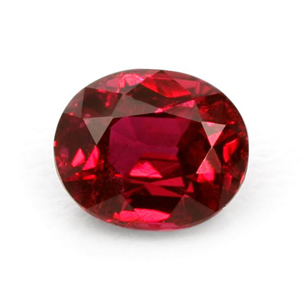 faceted ruby gemstone
