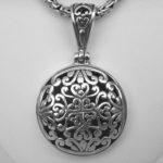 sterling silver bali pendant