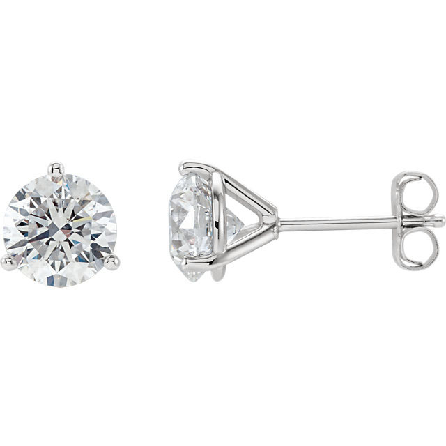 diamond studs martini setting