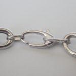 silver link bracelet lobster clasp