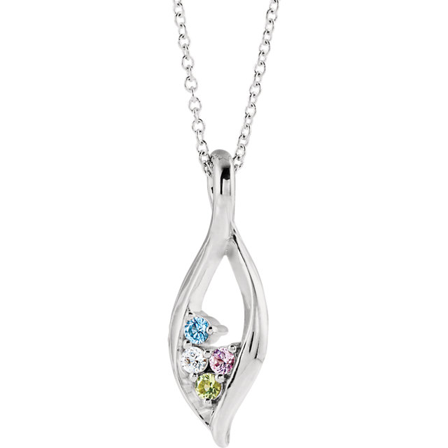 mothers necklace with multiple gemstones