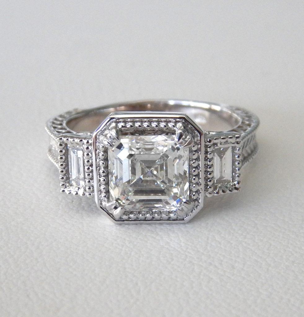 custom designed diamond engagement ring