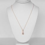 rose gold morganite and diamond pendant on chain