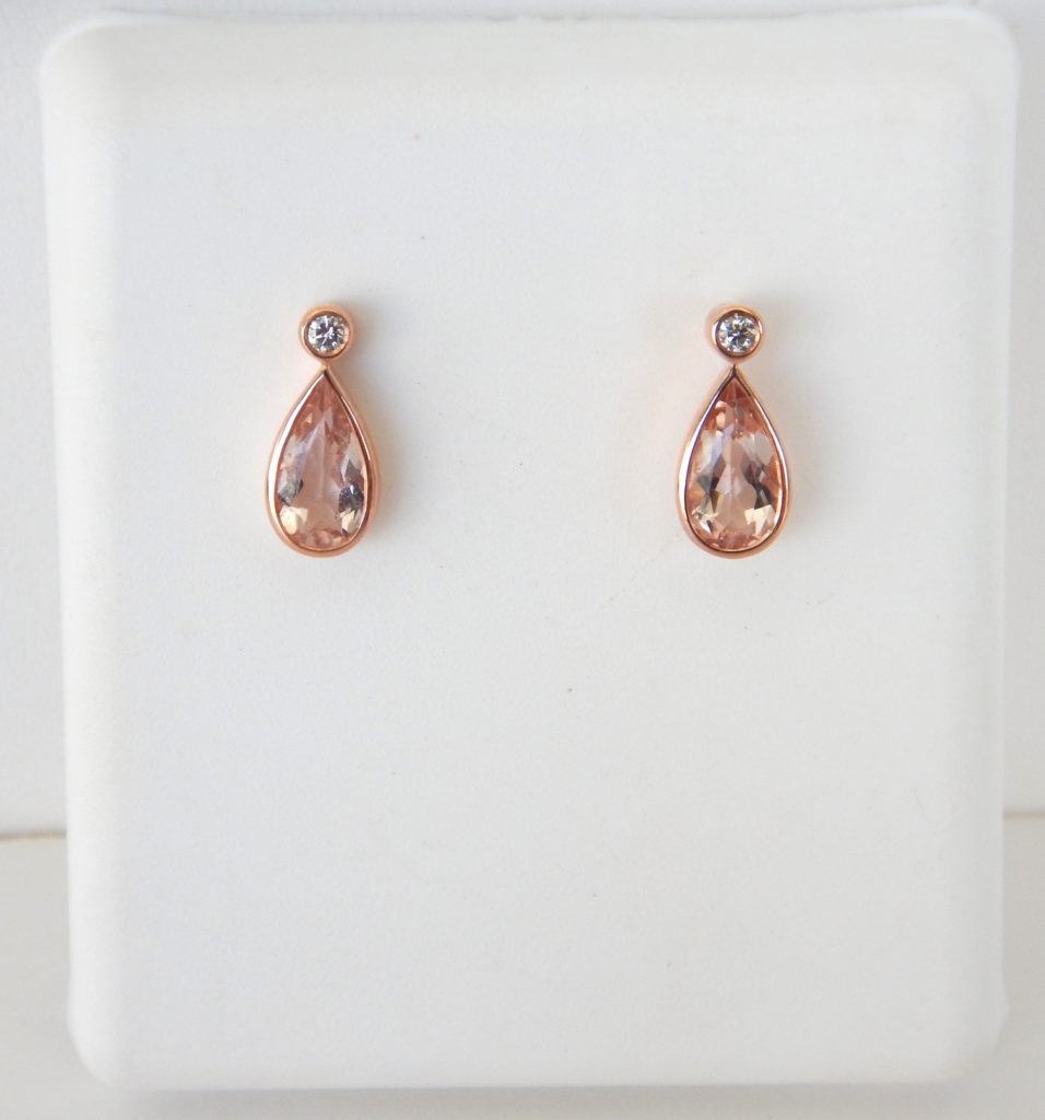 Morganite Earrings Recently And Rose Gold