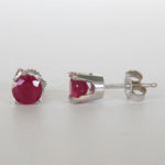 ruby studs white gold