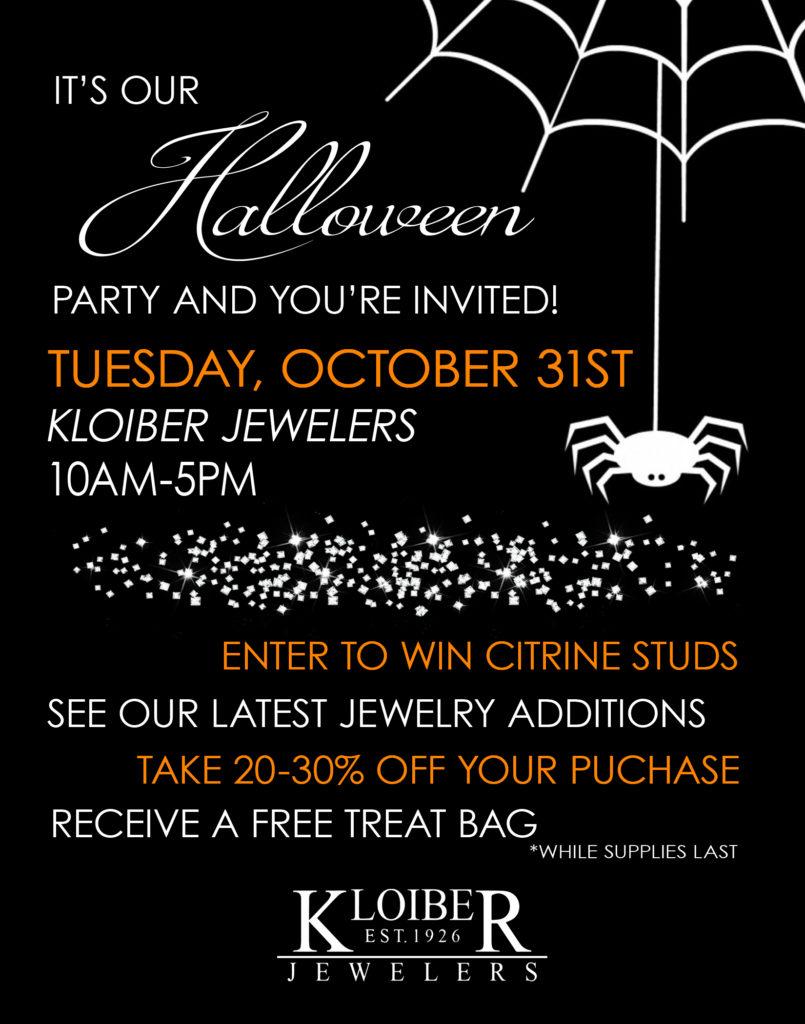 halloween party flyer kloiber jewelers