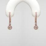rose gold diamond dangle earrings