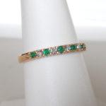 yellow gold emerald and diamond ring