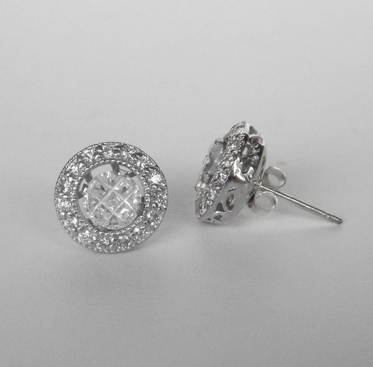 white gold diamond earring jackets
