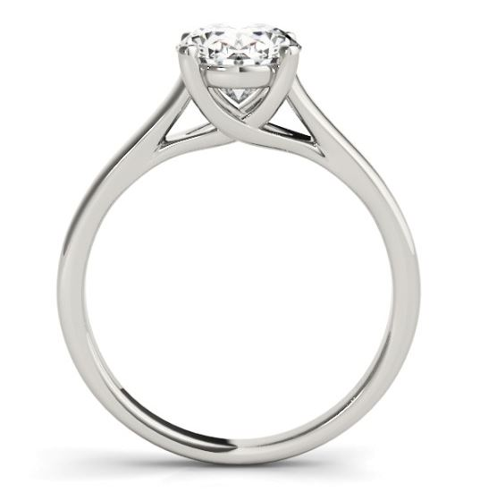 side view of diamond engagement ring