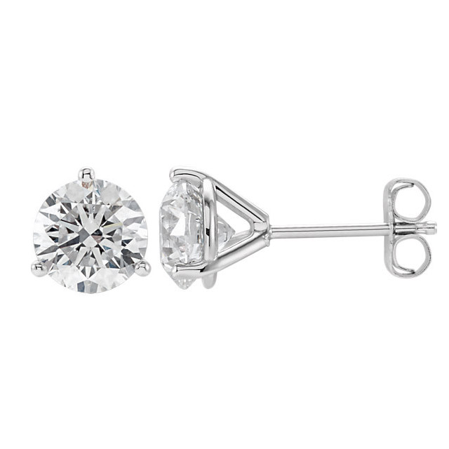 kloiber jewelers white gold diamond studs