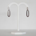 sterling silver white sapphire oval earrings