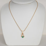 yellow gold contemporary emerald necklace