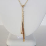 yellow gold y necklace
