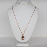 rose gold smoky quartz necklace