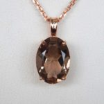 rose gold smoky quartz pendant