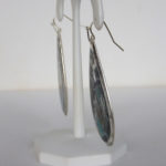side view of sterling silver colorful dangle earrings