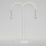 yellow gold freshwater pearl drop earrings