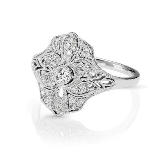 diamond vintage style ring kloiber jewelers