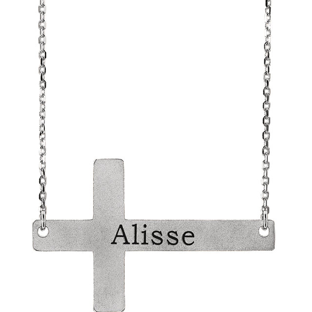 engravable cross necklace