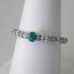 sterling silver emerald stacking ring